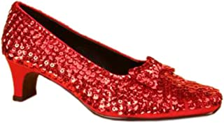 Pleaser DOROTHY-05G, Red Glitter Children's Dorothy Shoes, 1 1/2