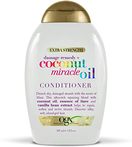OGX Extra Strength Damage Remedy + Coconut Miracle Oil Conditioner for Dry, Frizzy or Coarse Hair, Hydrating & Flyawa...