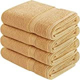 Utopia Towels Cotton Hand Towels, 4 Pack Towels, 600 GSM, Beige