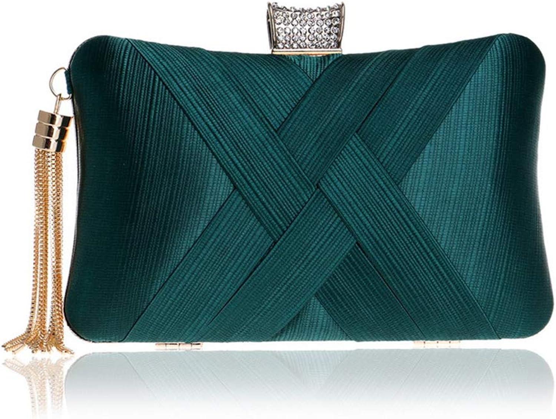 Evening Bag, Shoresu Clutch Purses Women's Elegant Tassel Pendant Clutch Chain Shoulder Bag Evening Purse Handbag
