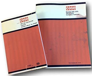 Case 220 222 444 Compact Tractor Operators Owner Manual & Parts Catalog 9702946+