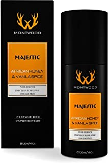 Majestic African Honey & Vanilla Spice Pure Essence Spray by Montwood - perfume for men, 120 ml
