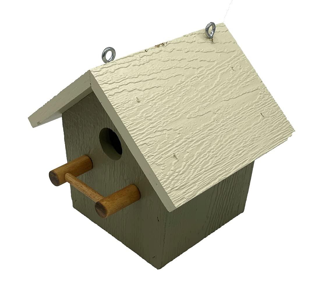 Max 70% OFF Amish Made Birdhouse Cedar Wood Painted Bird Plain House G Wild Gorgeous