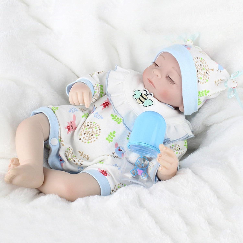 YIHANGG Wiedergeborener Körper-Silikon-Vinylpuppe Schlafende Jungen-Babys 18 Zoll 45cm Magnetischer Mund Voll Lebendiges Baby-wirklicher Vinylbauch Scherzt Spielzeug-Kindergeburtstag B07CVX22D3 Lebhaft  | Neuer Stil