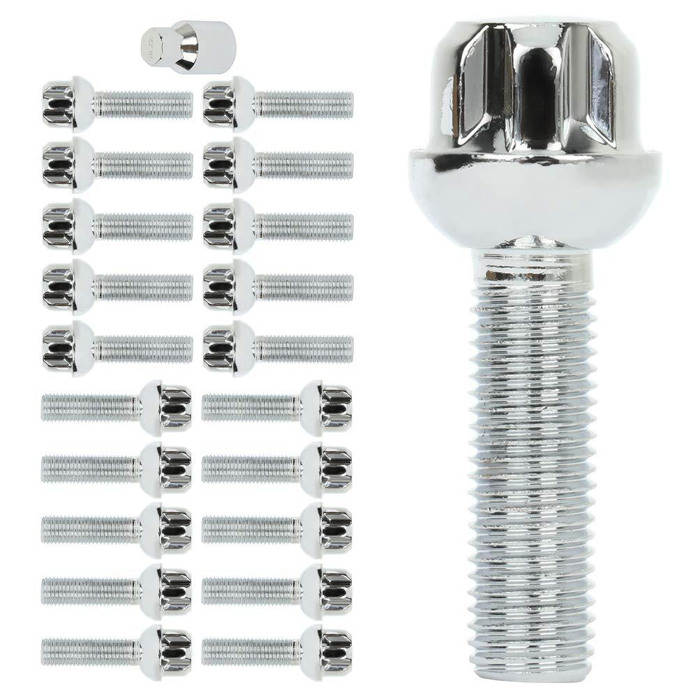 cciyu Lug Bolt 12x1.5 20set with Locking 1 Wheel Spring new work Free shipping anywhere in the nation S Key Black