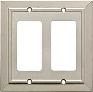 Franklin Brass W35224-SN-C Classic Architecture Double Decorator Wall Plate/Switch Plate/Cover, Satin Nickel