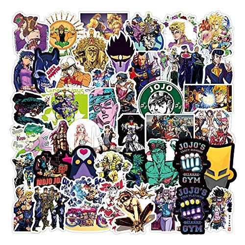 Anime Stickers 100PCS Cool Cartoon Stickers Vinyl Waterproof Stickers for Kids Teens Adults Laptop Water Bottles Skateboard Guitar