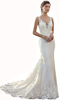 v neck mermaid evening dress