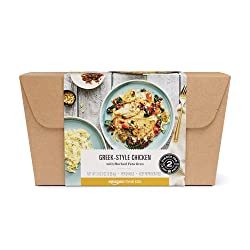 Amazon Meal Kits, Greek-Style Chicken with Herbed Feta Orzo, Serves 2