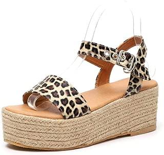 Women's Ankle Strap Platform Wedges Sandals Casual Open Toe Espadrilles Platform Sandals for Summer
