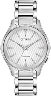 Citizen Modena Eco-Drive 38 mm Silver Dial Stainless Steel Watch for Women