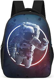 Mochila para niños y niñas con diseño de astronauta de la NASA, gran capacidad, con correas anchas y cómodas