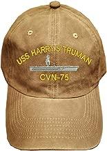 USS Harry S. Truman CVN-75 Ship Military 100% Wash Cotton Hat Khaki
