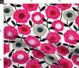 Spoonflower Stoff – Scandi Chintz rosa Blumen Frühling