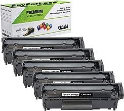 PayForLess Toner Cartridge 104 CRG-104 Black 5PK Replacement for Canon imageClass MF4150 Faxphone L90 D420 LBP2900 LBP3000 MF4270 MF4690 Printers