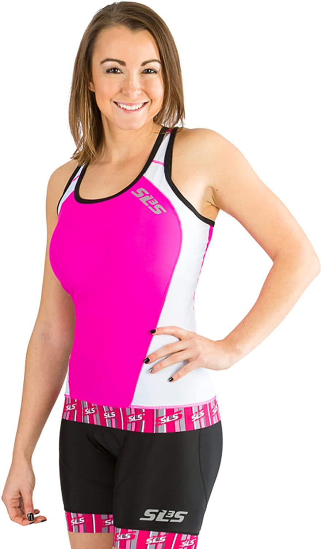 SLS3 Womens Triathlon Top FX Max 71% OFF Anti-Frict Tri Back OFFicial shop Pocket Tops