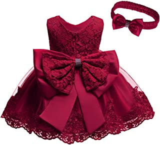 Best Baby Girl Dresses Ruffle Lace Pageant Party Wedding Flower Girl Dress Review