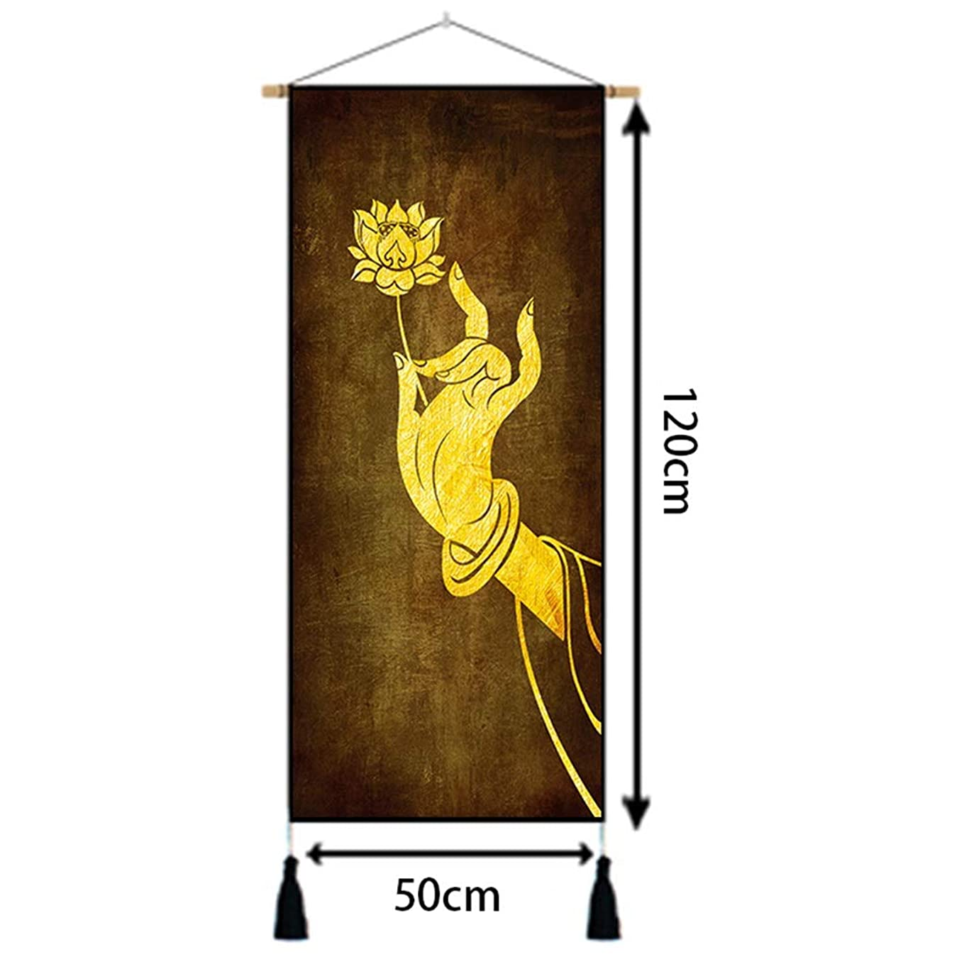 オレンジ尾放出50CM×家の装飾の-120CM用のLotus花柄壁掛け壁掛け NTWXY (PATTERN : C)