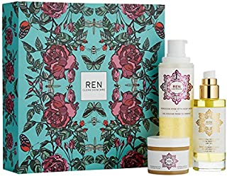 REN Clean Skincare Moroccan Rose Body Care Set ($101 Value) Including GOLD GLOW PERFECT DRY OIL, ROSE OTTO SUGAR BODY POLISH, and BODY WASH