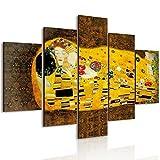 Lupia Vogue - Cuadro multipanel El beso de Klimt de madera, 66 x 115 cm