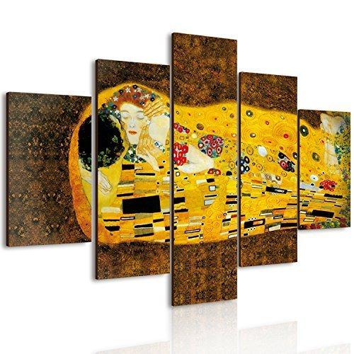 Lupia Vogue Cuadro Multipanel El Beso de Klimt Madera 66 x 115 cm