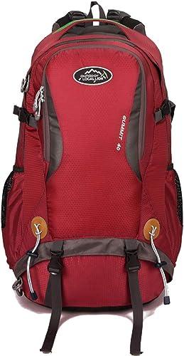 UICICI Rucks e Polyester wasserdicht und tragbar Outdoor Camping Radfüren Rucksack M er und Frauen Multifunktions (Farbe   rot)