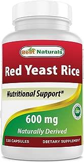 Best Naturals, Red Yeast Rice, 600 mg capsules, 120 Capsules, 2 capsules per serving/1200mg per serving