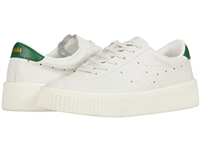 Gola Super Court Leather (Off-White/Green) Women