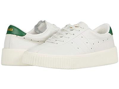 Gola Super Court Leather (Off-White/Green) Women