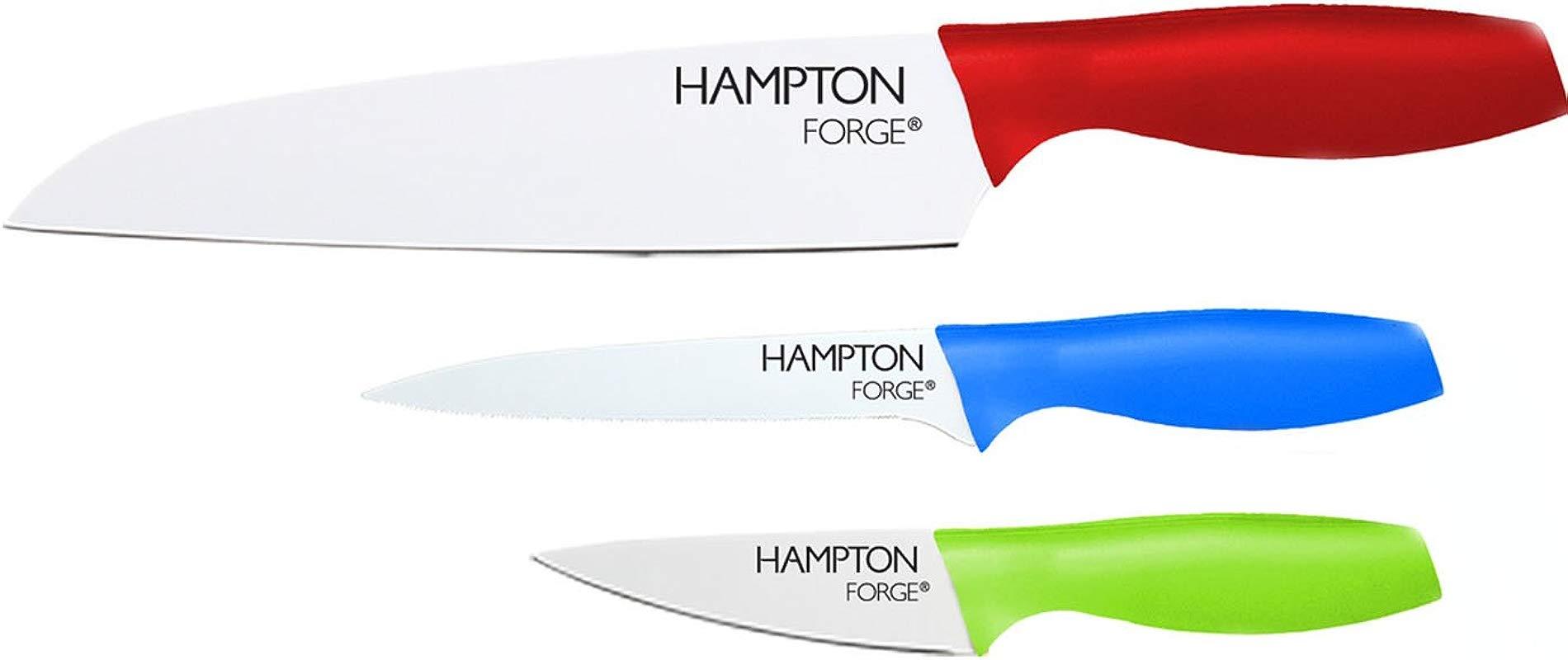 Hampton Forge 3 Piece Tomodachi Ceramic Coated Cutlery Set Metallic