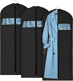 Hudson Garment Bags for Travel & Storage | Premium Cover for Hanging Suits and Coats | Dress Bag | Suit Bag | Moth Proof | Carry On Approved | Lifetime Replacement | Set of 3