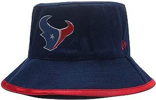 Keilantra Outdoor Bucket Cap Fisherman Hat, Summer Outdoor UV Sun Hat Adjustable Strap with New England Patriots Logo for Fishing, Beach, Hiking, Safari, Camping, Gardening & Boating + Woven Bracelet