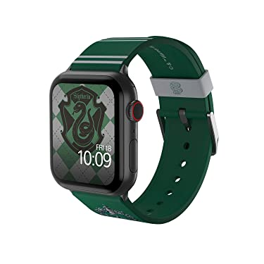 Harry Potter - Slytherin Edition – Officially Licensed Silicone Smartwatch Band Compatible with Apple Watch, Fits 38mm, 40mm, 42mm and 44mm