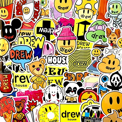 80PCS Singer Justin Bieber Drewhouse Sticker Pack para PC Maleta Laptop Motocicleta Estilo Cool Cartoon Stickers