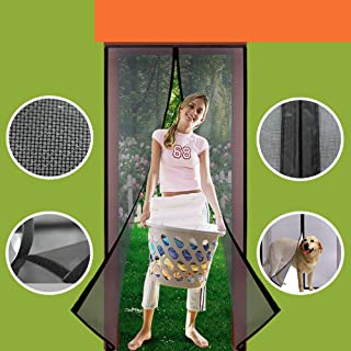 Homearda Magnetic Screen Door Fiberglass-New Upgraded Magnets & Strengthen Top Never..