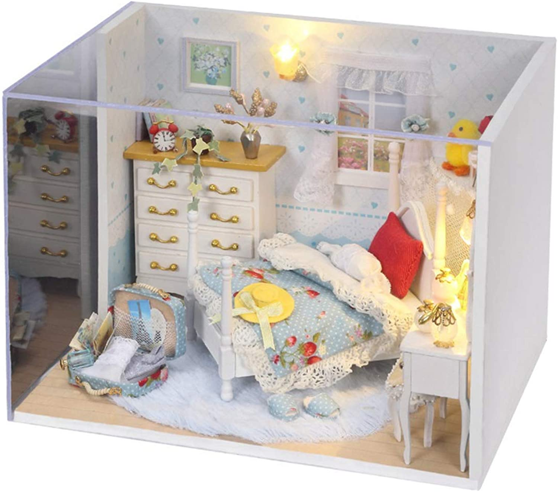DIY Doll House, 3D Puzzle Wooden Mini Cabin Kit HandAssembled Model Dream Princess Room
