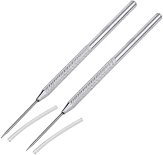 Aiber Clay Pottery Stainless Steel Modeling Needle Detail Tools for Sculpture Pack of 2