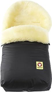 Fareskind Baby Go Cozy Sheepskin Bunting Bag, Black, 0-12 Months