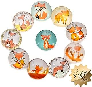 FF Elaine 10 Pcs Fridge Magnets Crystal Glass Housewarming Home Decorations Gift (Fox)