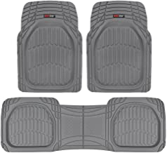 Motor Trend MT-923-GR Flextough Contour Liners - Deep Dish Heavy Duty Rubber Floor Mats for Car Suv Truck and Van - All We...