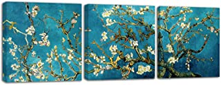 Almond Blossom Framed Floral Canvas Prints by Van Gogh Famous Oil Paintings Reproduction Flowers Pictures o...
