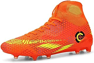 ZMYC Teenage Football Boots, Sneakers Cleats Soccer Shoes Outdoor Training Ankle Care Running Sneakers Non-slip Sports (Co...