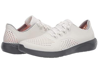 Crocs LiteRide Pacer (Almost White/Slate Grey) Men