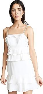 Parker womens Kristie spaghetti strap ruffle short dress Dress