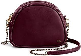 DailyObjects Burgundy Vegan Leather Arch Sling Crossbody Bag for girls and women | Vegan leather, Stylish, Sturdy, Zip clo...