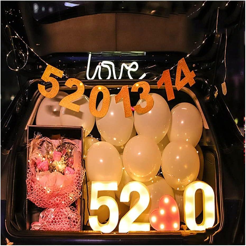 ASKLKD Car Trunk Surprise Decoration Proposal Confession Arrange