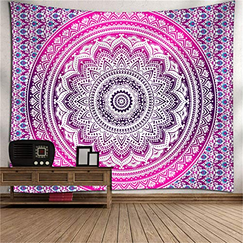 DHHY Polyester Printing Tapestry, Bohemian Series Digital Printing Tapestry, Mandala Home Decoration Tapestry