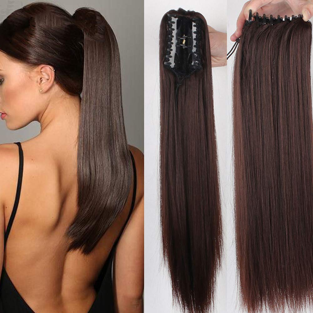 Remeehi 100% Real Bargain sale Human Industry No. 1 Hair C Straight Hairpiece Claw Ponytails