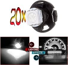 cciyu 20x T4.7 White 1-5050-SMD LED Neo Wedge Instrument A/C Climate Heater Lights 12V Fits For 2001-2012 Dodge Ram 1500 Van Intrepid Dakota Caravan Grand Caravan Ram 5500 4500 3500 Van 3500