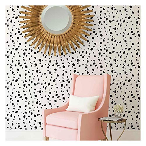 Dalmatian Spots Allover Stencil - Large Stencils for Painting Walls – Try Stencils Instead of Wallpaper – Modern Stencils for Wall Painting – Stencil Designs for DIY Home Décor – Best Stencils